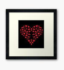 Alice/Heartless Design Framed Print