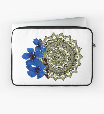 Royal blue magnolia mandala Laptop Sleeve