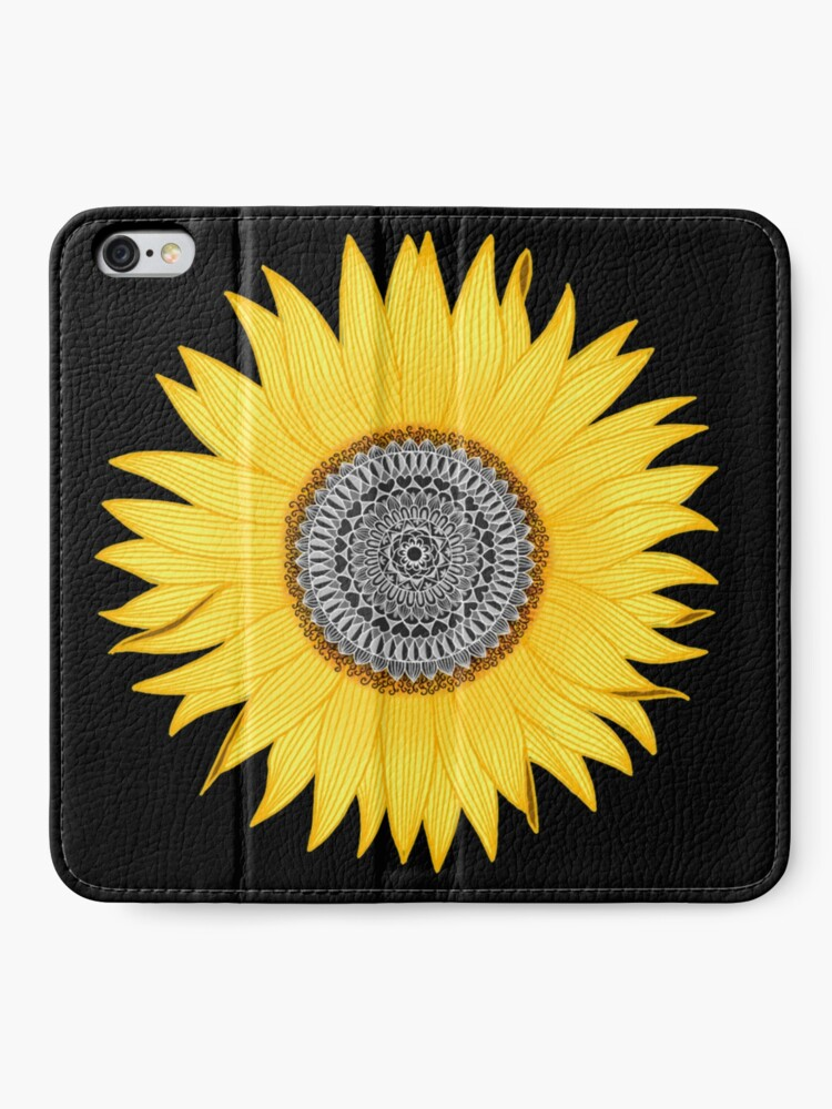 Alternate view of Mandala Sunflower iPhone Wallet