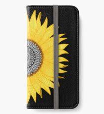 Mandala-Sonnenblume iPhone Flip-Case/Hülle/Klebefolie