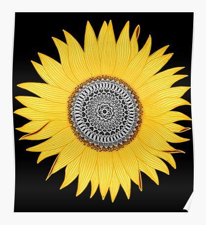 Mandala Sunflower Poster