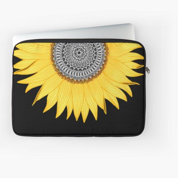 Mandala Sunflower Laptop Sleeve