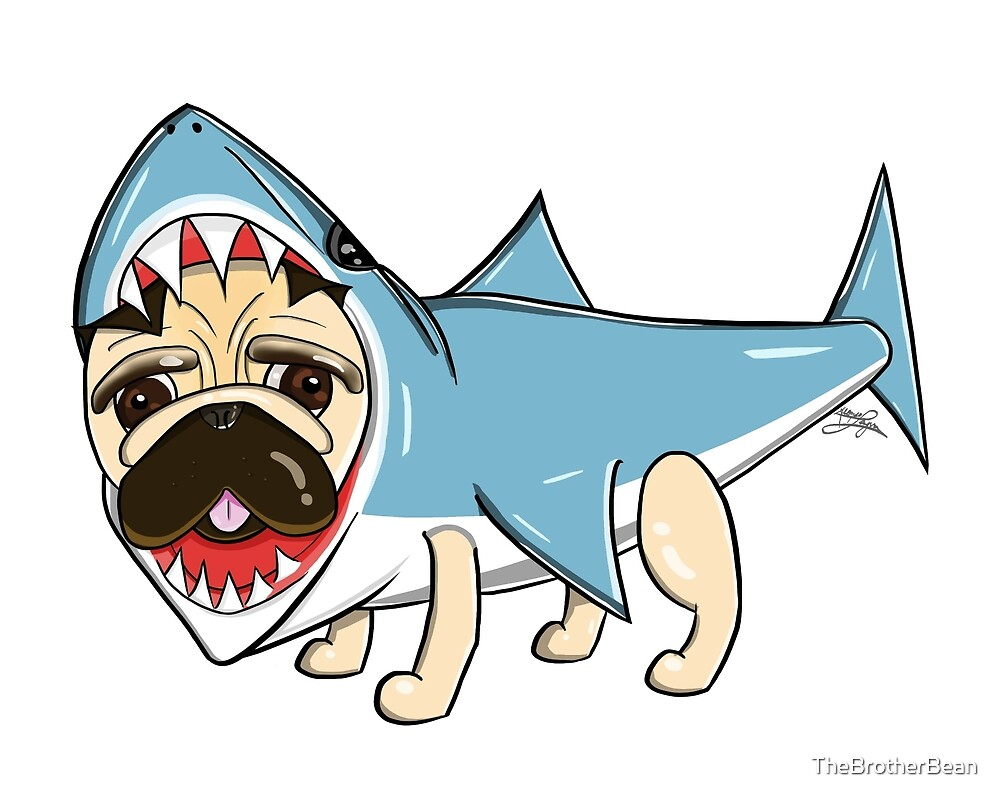 ThePugShark by TheBrotherBean