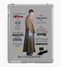 10th Dr. Who Quote iPad Case/Skin