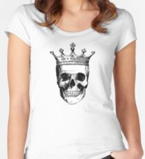 Skull King | Black and White Women's Fitted Scoop T-Shirt
