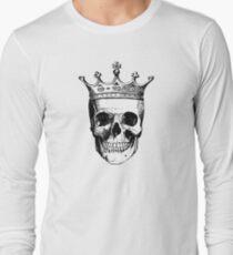Skull King | Black and White Long Sleeve T-Shirt