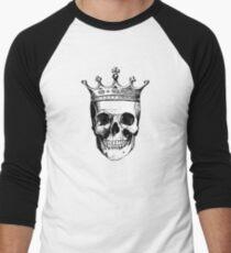 Skull King | Black and White Men's Baseball ¾ T-Shirt