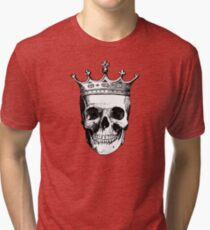 Skull King | Black and White Tri-blend T-Shirt