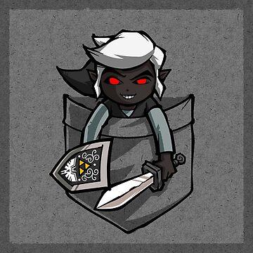 Pocket Dark Link  by Purrdemonium