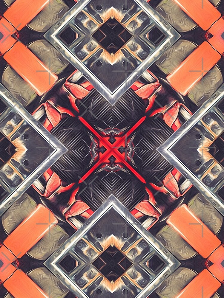 Orange Automotive Abstract by perkinsdesigns