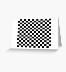 Checkered Racing Car Flag Pillow and Cushion Cover Greeting Card
