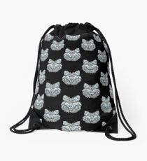Winter wolf Drawstring Bag