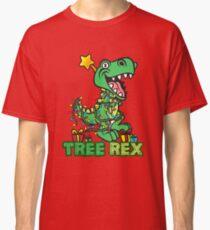 Arbre Rex Dinosaur Noël Design T-shirt classique