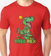 Tree Rex Dinosaur Christmas Design Unisex T-Shirt