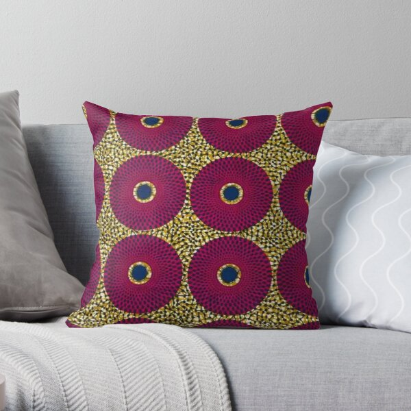Africa fabric Throw Pillow