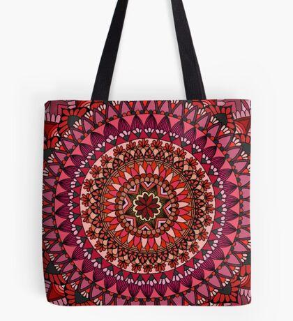 The Red Moon Mandala Tote Bag