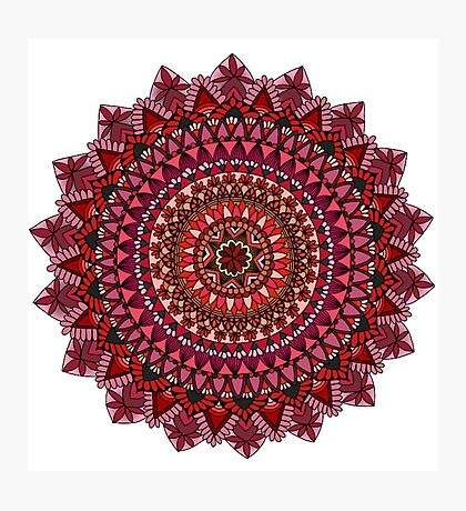 The Red Moon Mandala Photographic Print