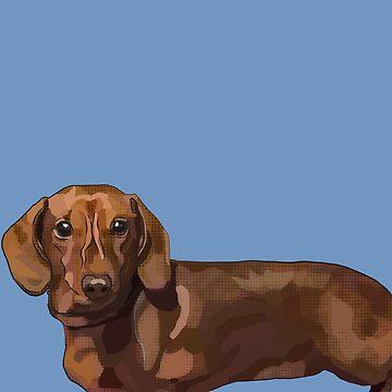 Daschund Dog - Teddy Sausage Dog by BeeFoxTree