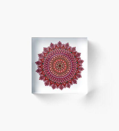 The Red Moon Mandala Acrylic Block