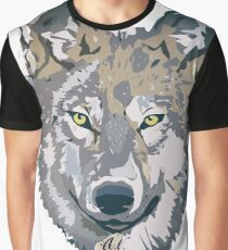 Wolf Design Graphic T-Shirt