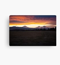 Central Oregon Sunset Canvas Print