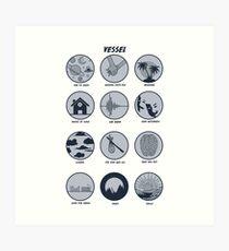 Twenty One Pilots Vessel Breakdown Design Art Print