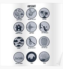 Twenty One Pilots Vessel Breakdown Design Poster