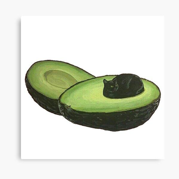 Avocado Cat Canvas Print