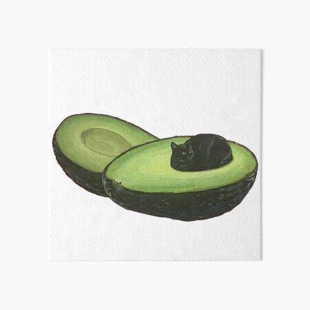 Avocado Cat Art Board Print