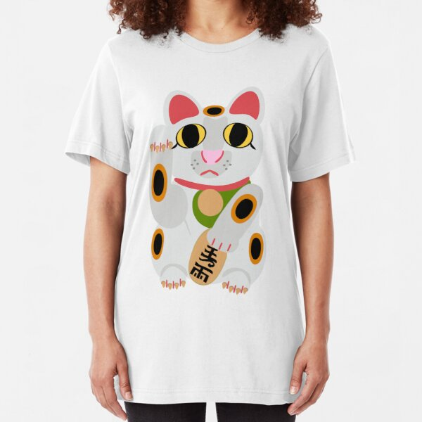 Lucky Cat  Slim Fit T-Shirt