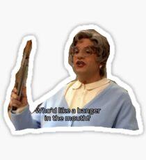 Tobias Funke as Ms. Featherbottom Sticker