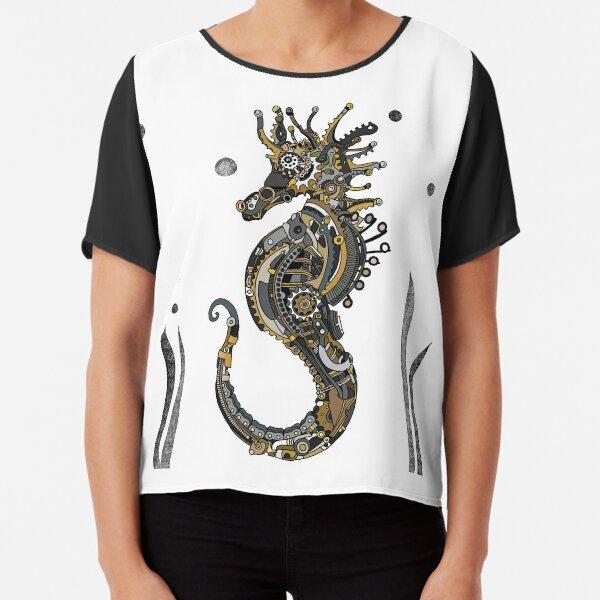 Steampunk Seahorse Chiffon Top