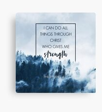 Forest Philippians 4:13 Canvas Print