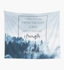 Forest Philippians 4:13 Wall Tapestry