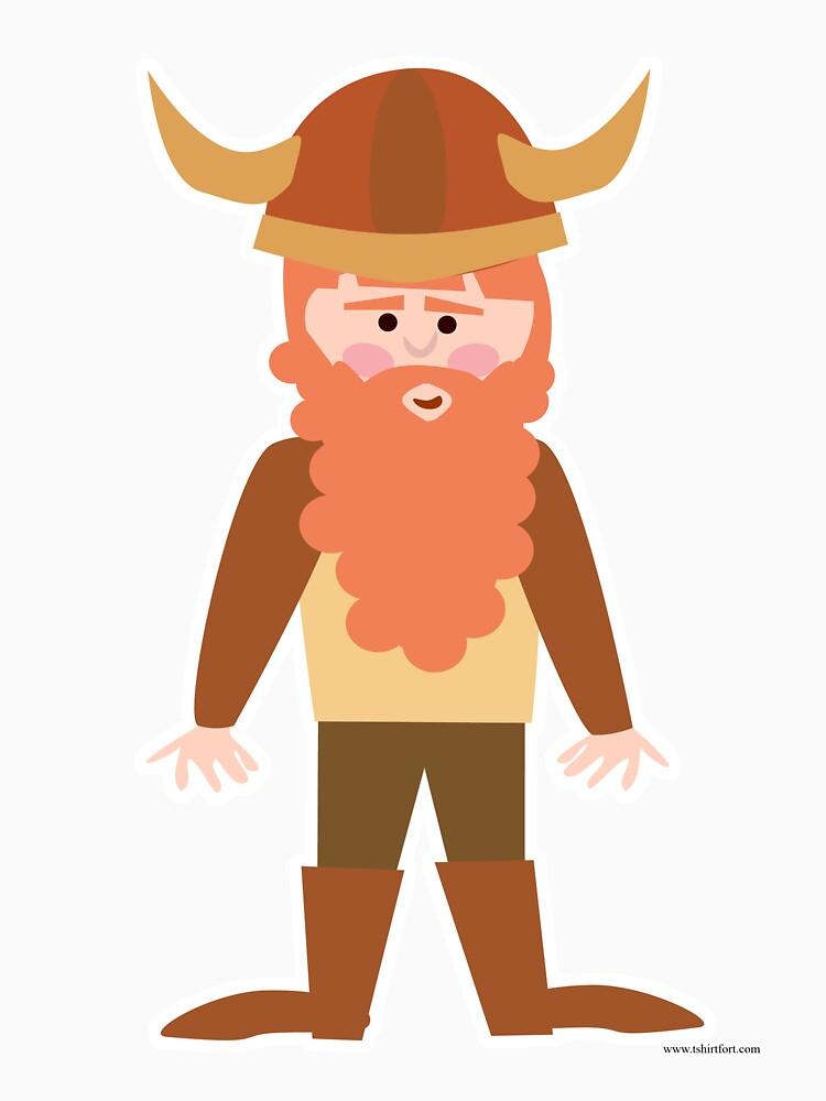 Cartoon Viking by mytshirtfort