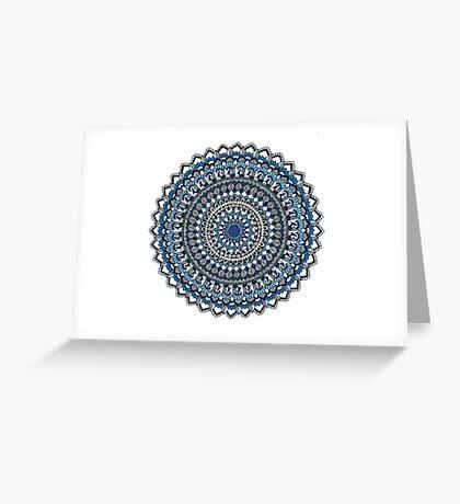 Deep blue sea mandala Greeting Card