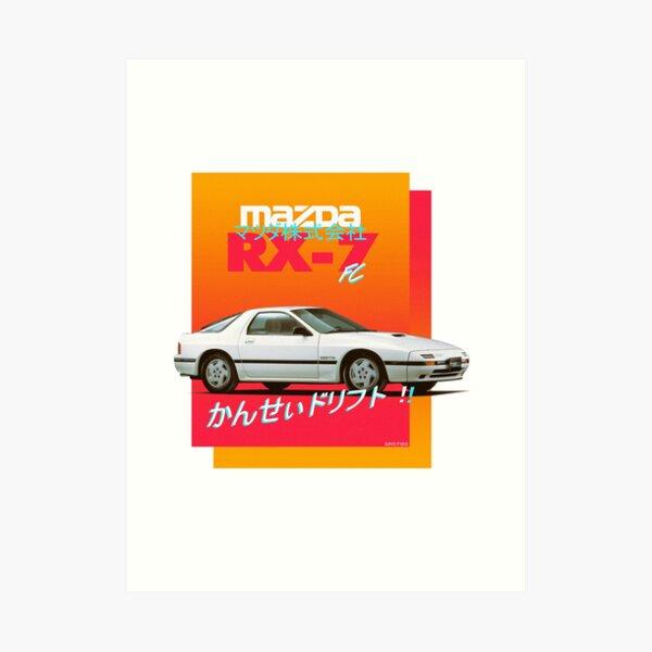 Mazda RX-7 FC Art Print