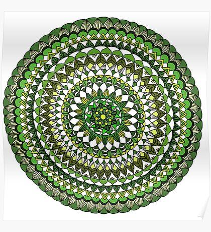 Evergreen Mandala Poster