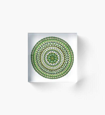 Evergreen Mandala Acrylic Block