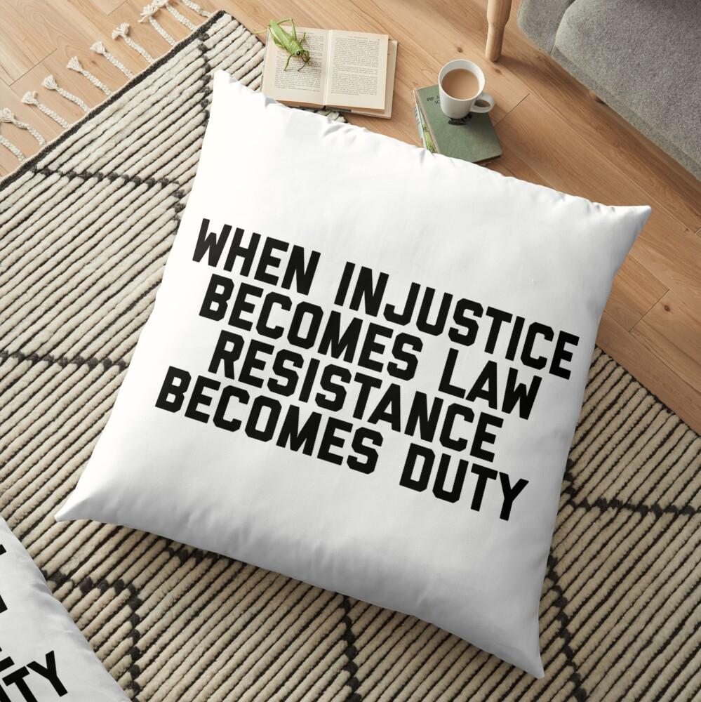 Resistance Floor Pillow
