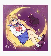 Night Sky - Sailor Moon! Photographic Print