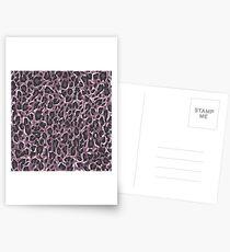 Leopard Pink Postkarten