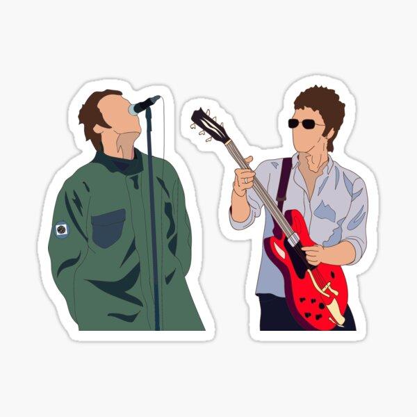 Liam and Noel Gallagher Sticker