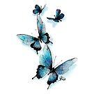 Butterflies Greeting Card by Arterized