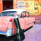 Vintage Pink Cadillac - 1950s Rock N Roll by Mark Tisdale