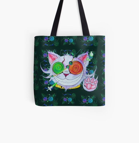 Psychocat All Over Print Tote Bag