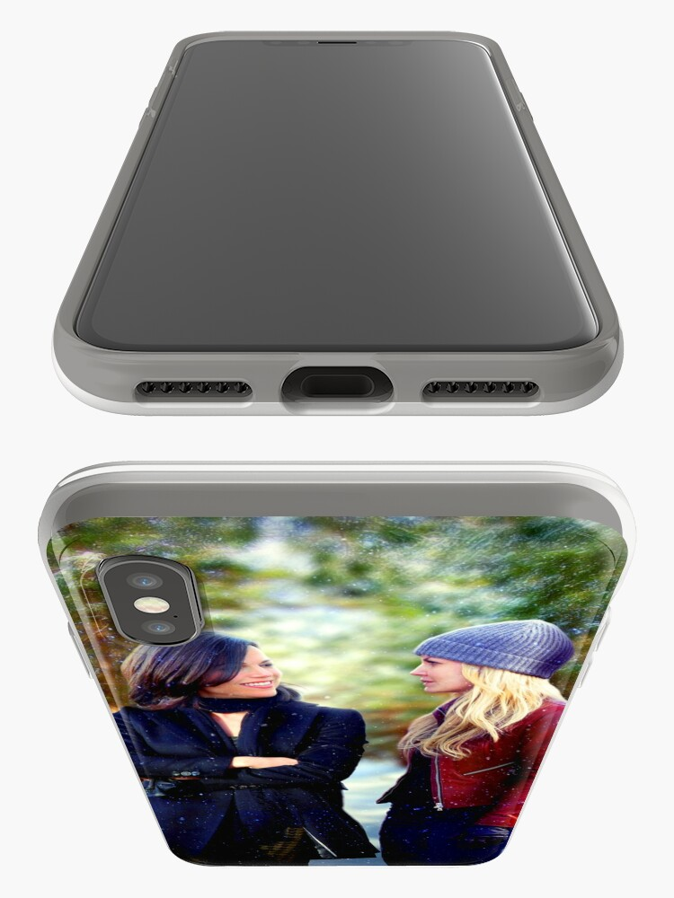 Alternate view of Swan Queen Winter Stroll iPhone Case & Cover