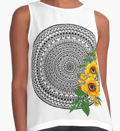 Golden poppy mandala Sleeveless Top