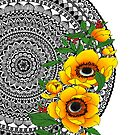 Golden poppy mandala by paviash