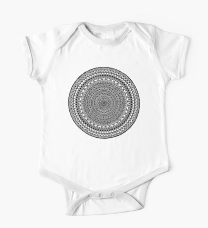 Black Moon Mandala Kids Clothes